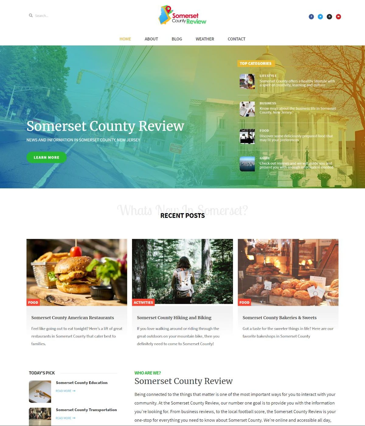 somerset county review website by mtb web consulting